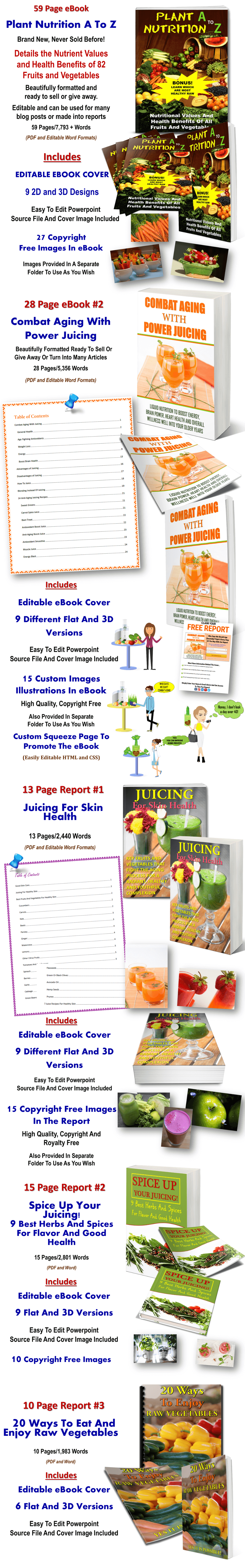 Juicing And Raw Food PLR