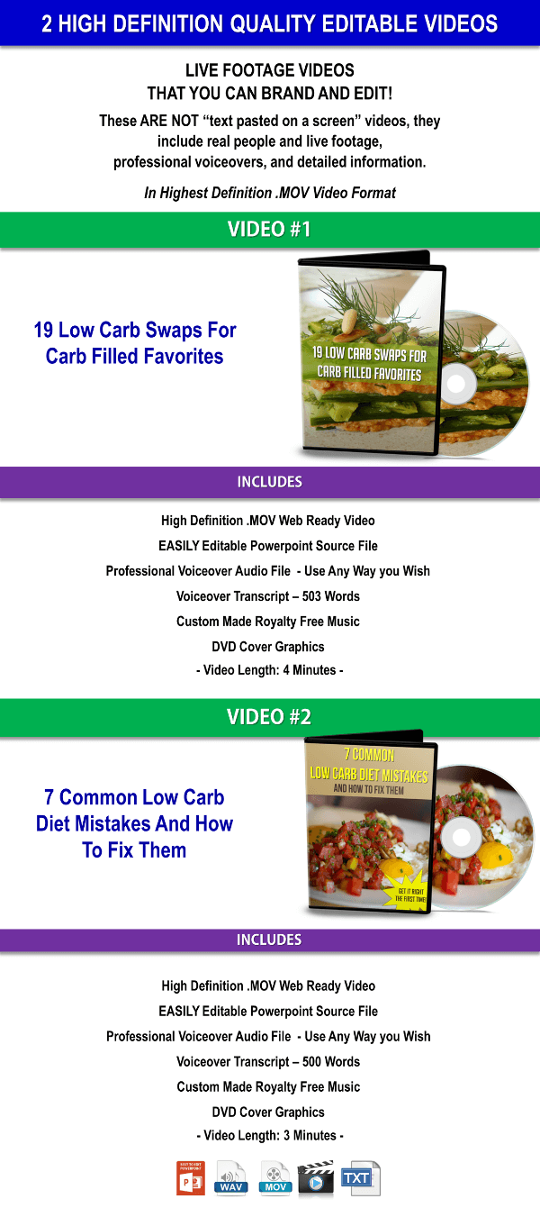 Low Carb PLR