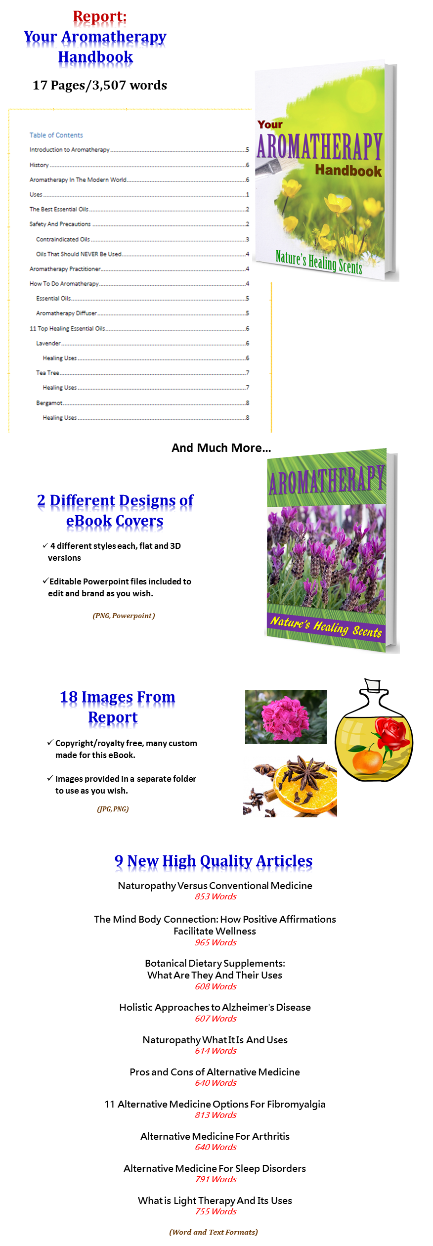 Aromatherapy PLR Pack