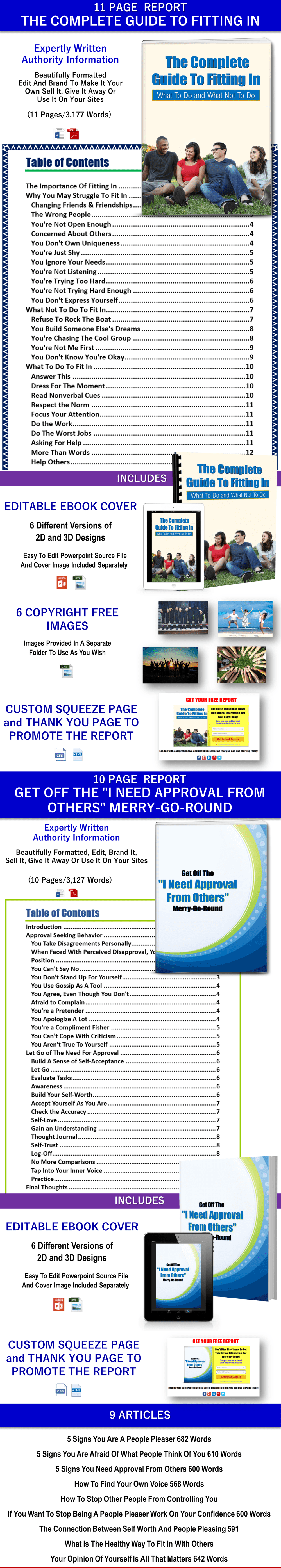 Stop Needing Approval From Others And Fitting In Reports and Articles PLR