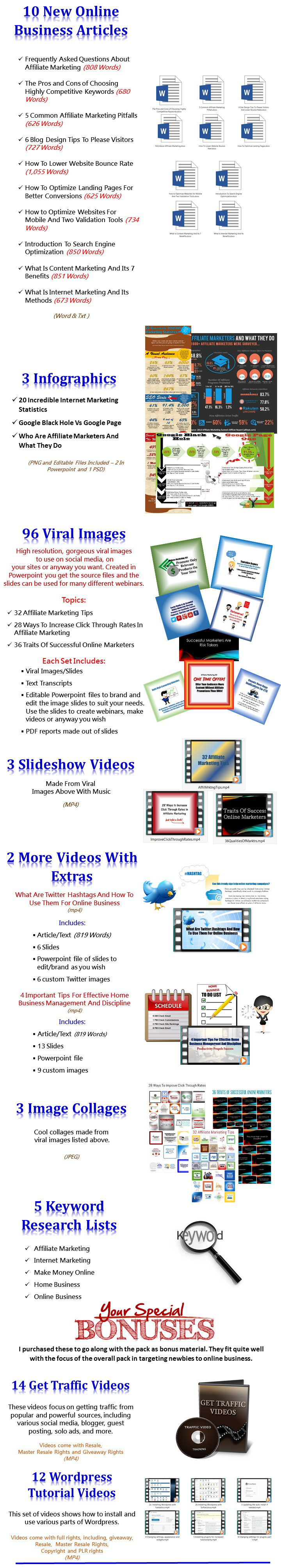 Affiliate/Internet Marketing PLR Mega Pack
