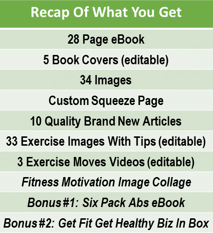 Tabata Ab Workouts eBook PLR Multi Pack