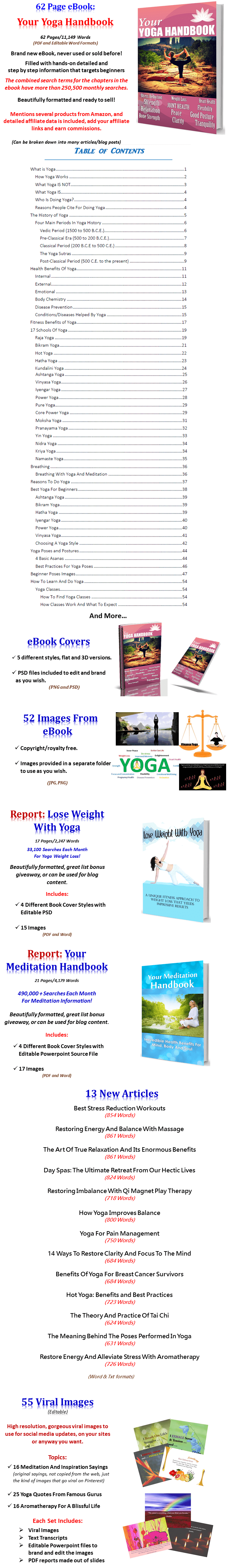 Yoga and Meditation PLR