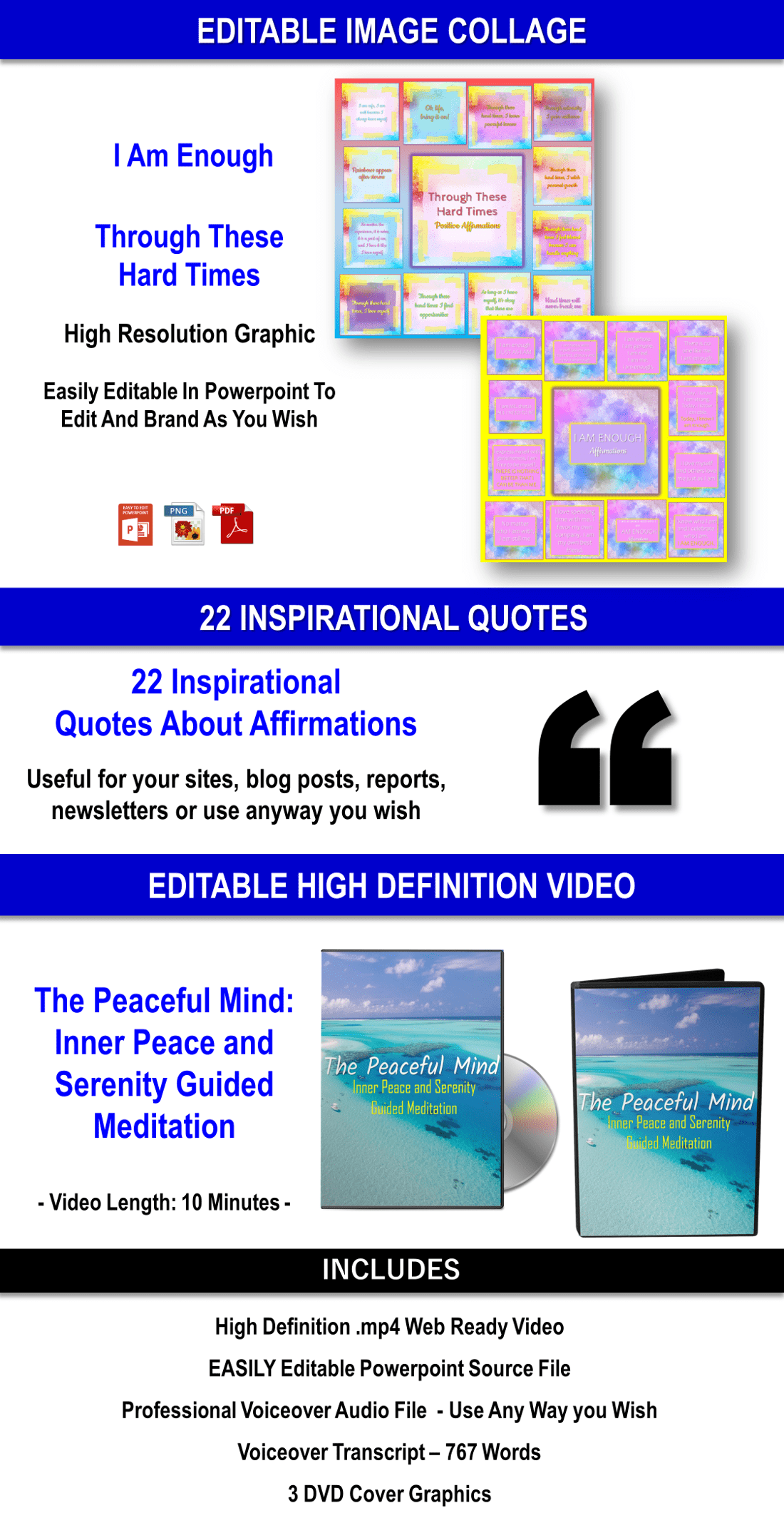 680 Affirmations And Guided Meditations Content Pack Private Label Rights