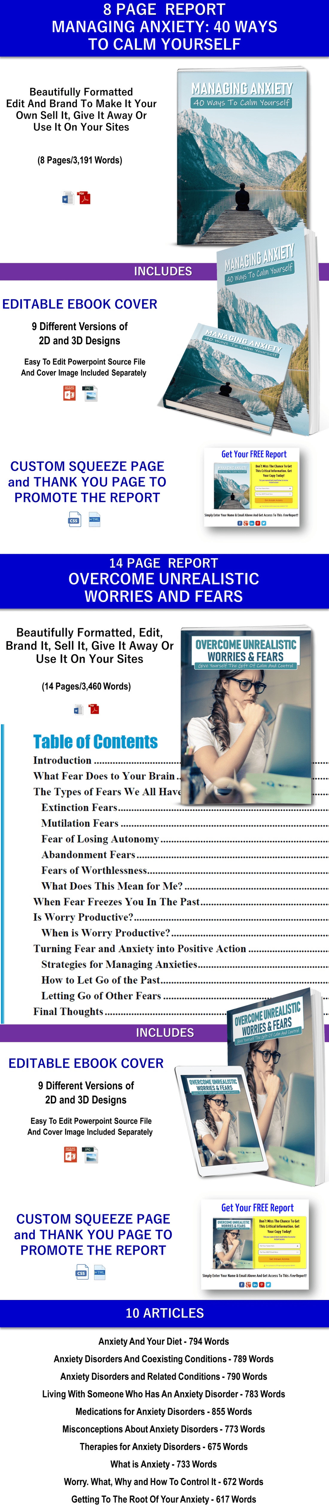 Manage Anxiety PLR