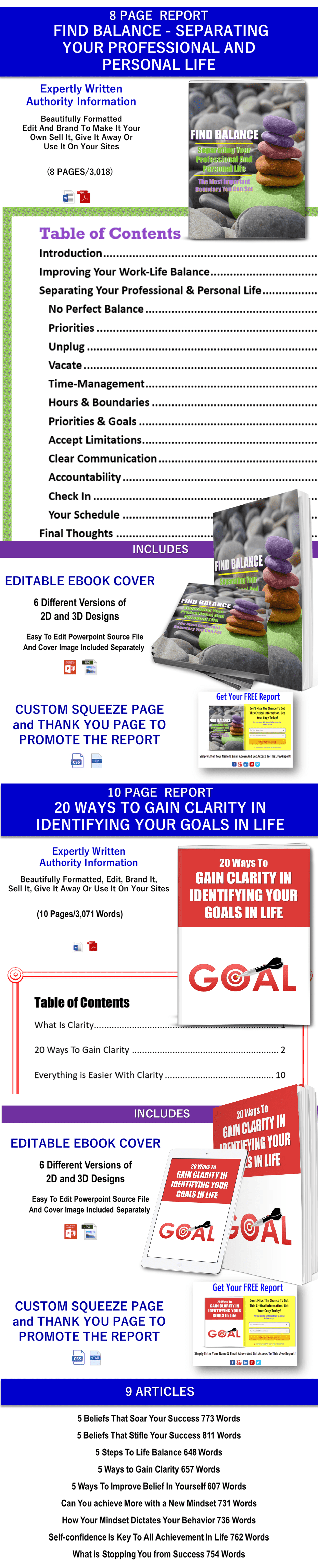 Life Balance and Goals PLR