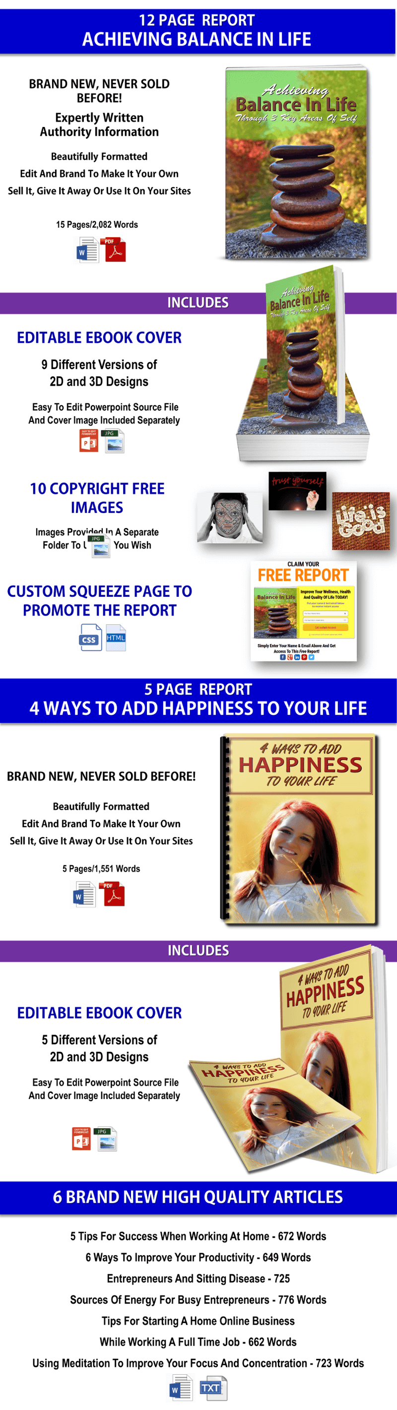 Life Balance and Happiness PLR