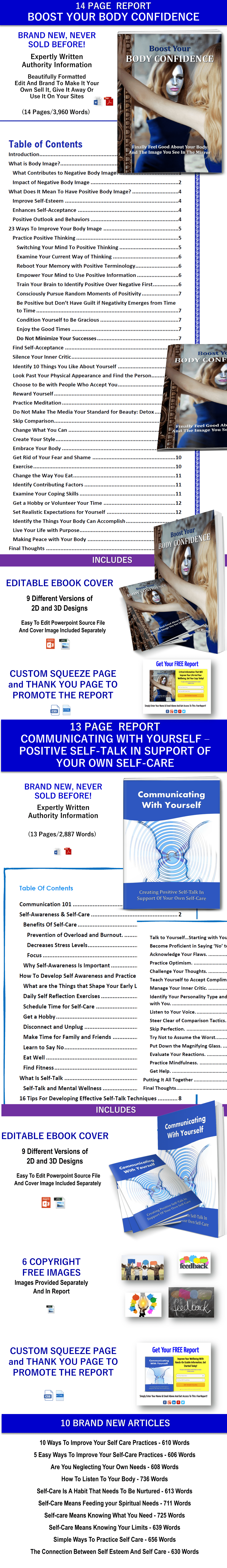 Positive Body Image and Self Talk PLR