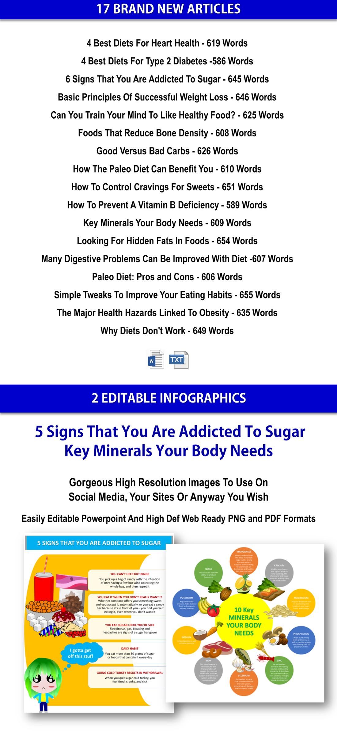 Diet And Healthy Eating PLR