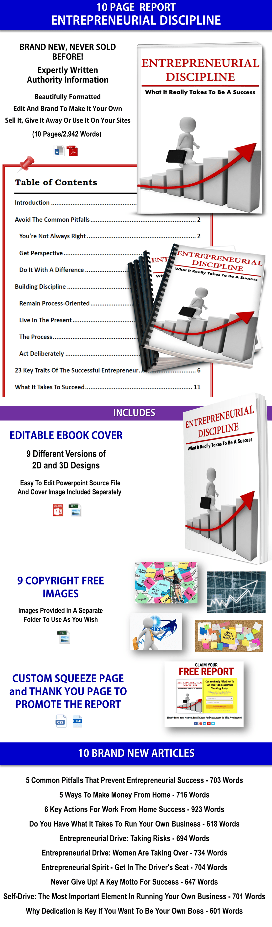 Entrepreneurial Discipline Report & Articles PLR