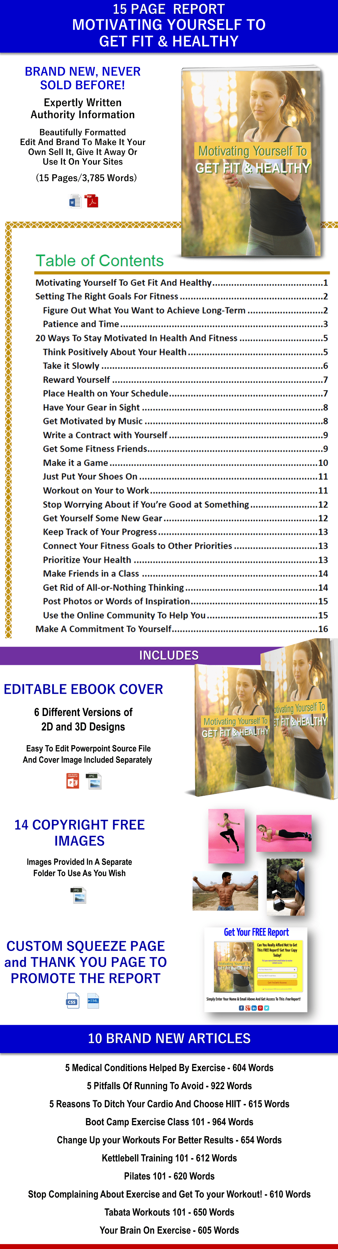 Fitness and Exercise PLR