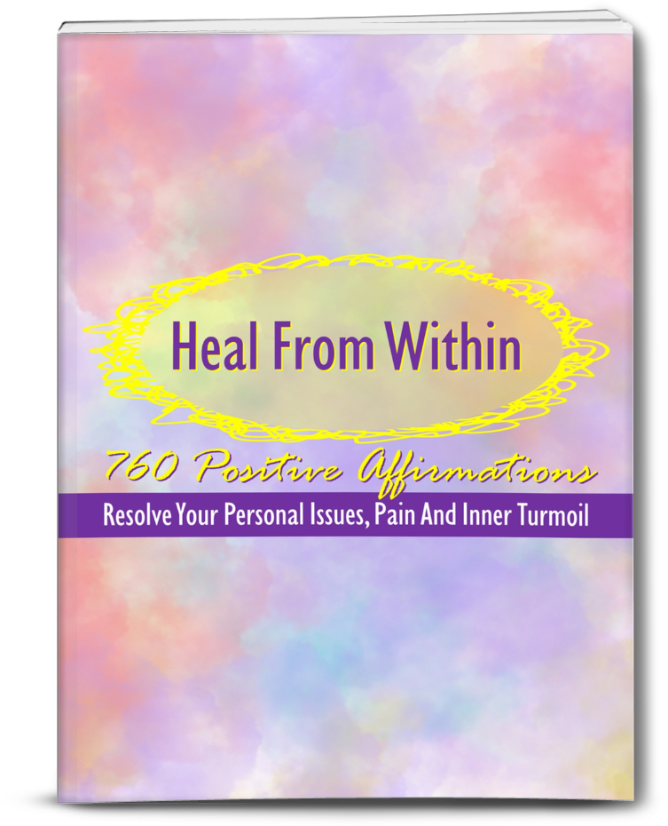 Heal From Within: 760 Positive Affirmations  + Guided Meditations PLR JV Page