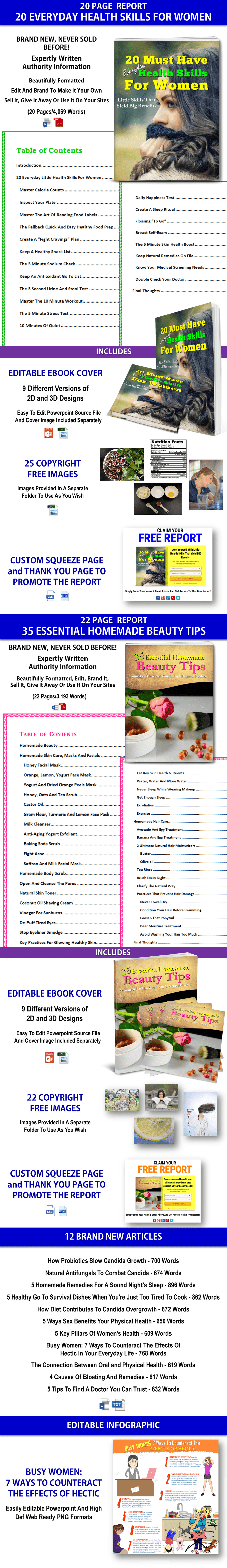 Health Skills And Homemade Beauty Tips PLR