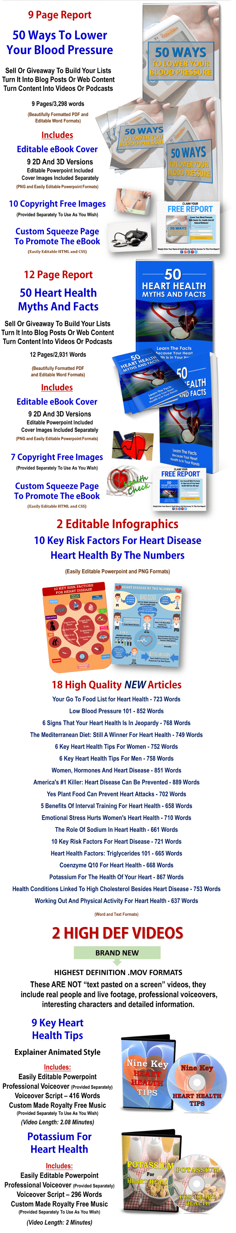 Heart Health PLR Package
