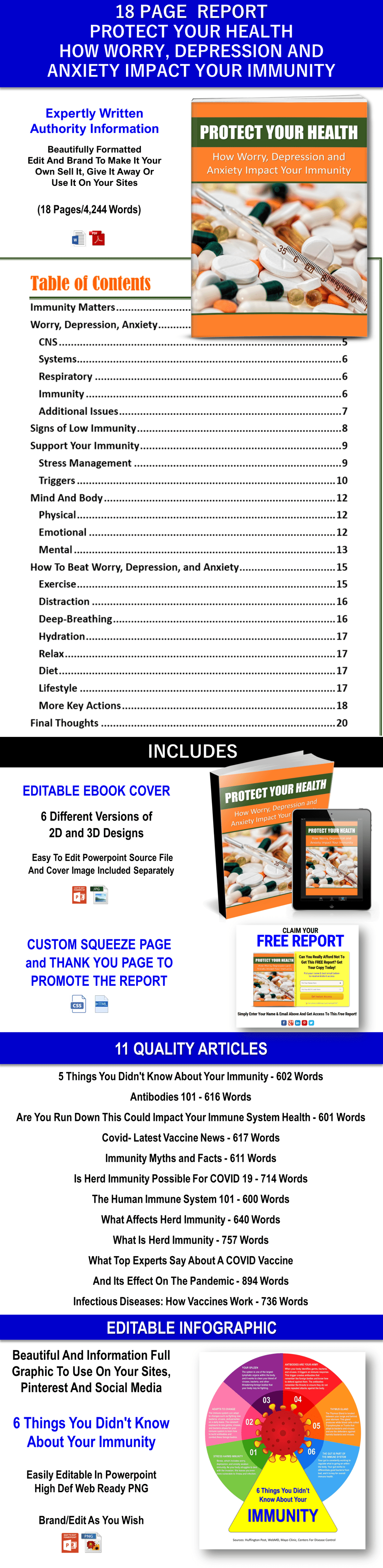Protect Your Health - Immunity Report and Articles - PLR Rights