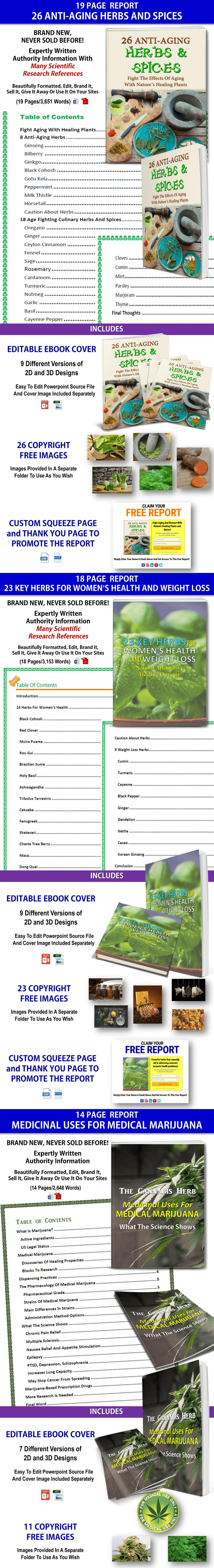 Herbal Medicine and Medical Marijuana PLR