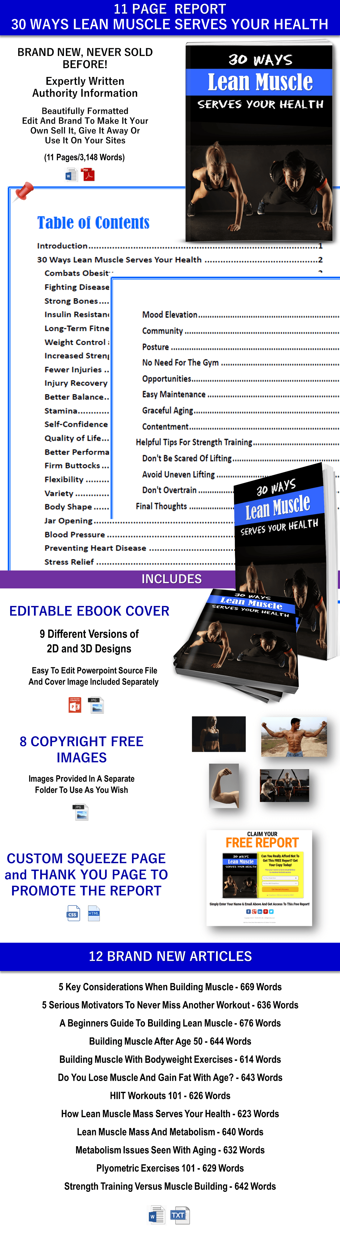 Lean Muscle Health PLR