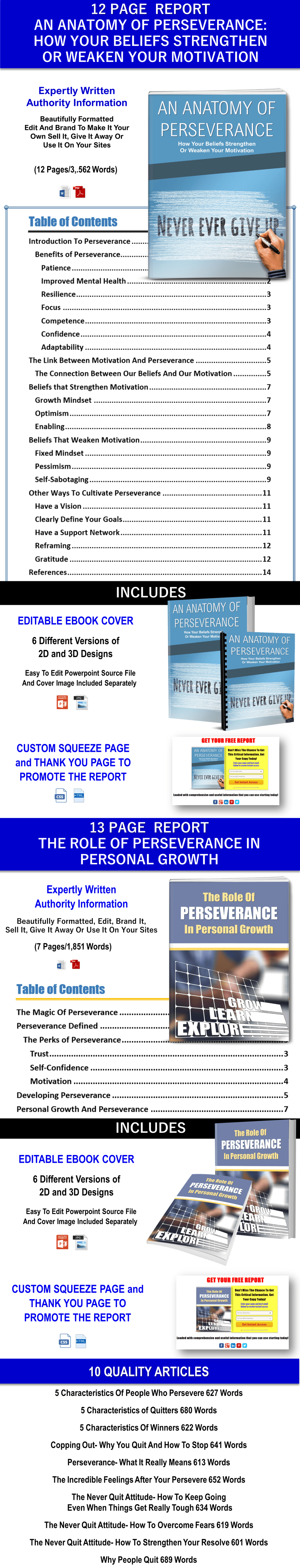 Perseverance Report and Articles Private Label Rights