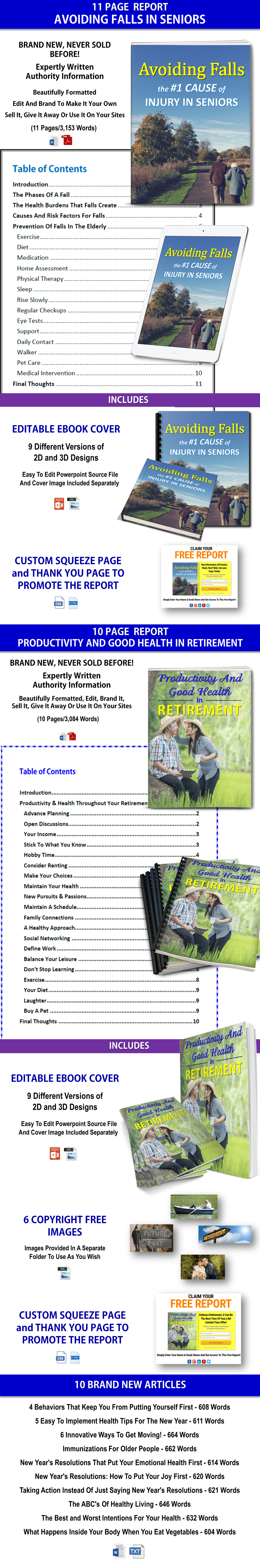 Senior Health And Productive Retirement PLR