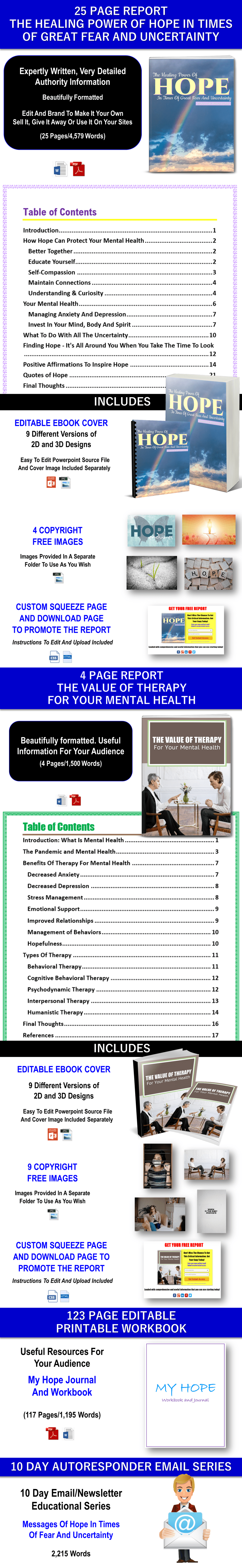 Hope And Value Of Therapy For Mental Health Content - Private Label Rights