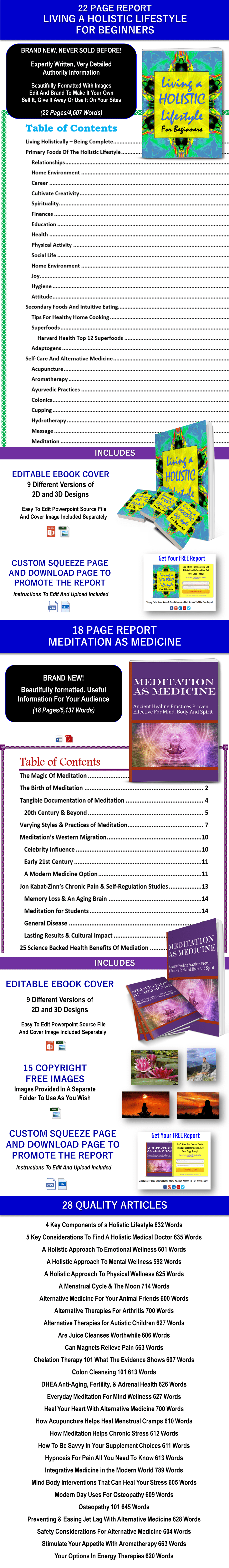 Holistic Lifestyle and Meditation Content - Private Lable Rights