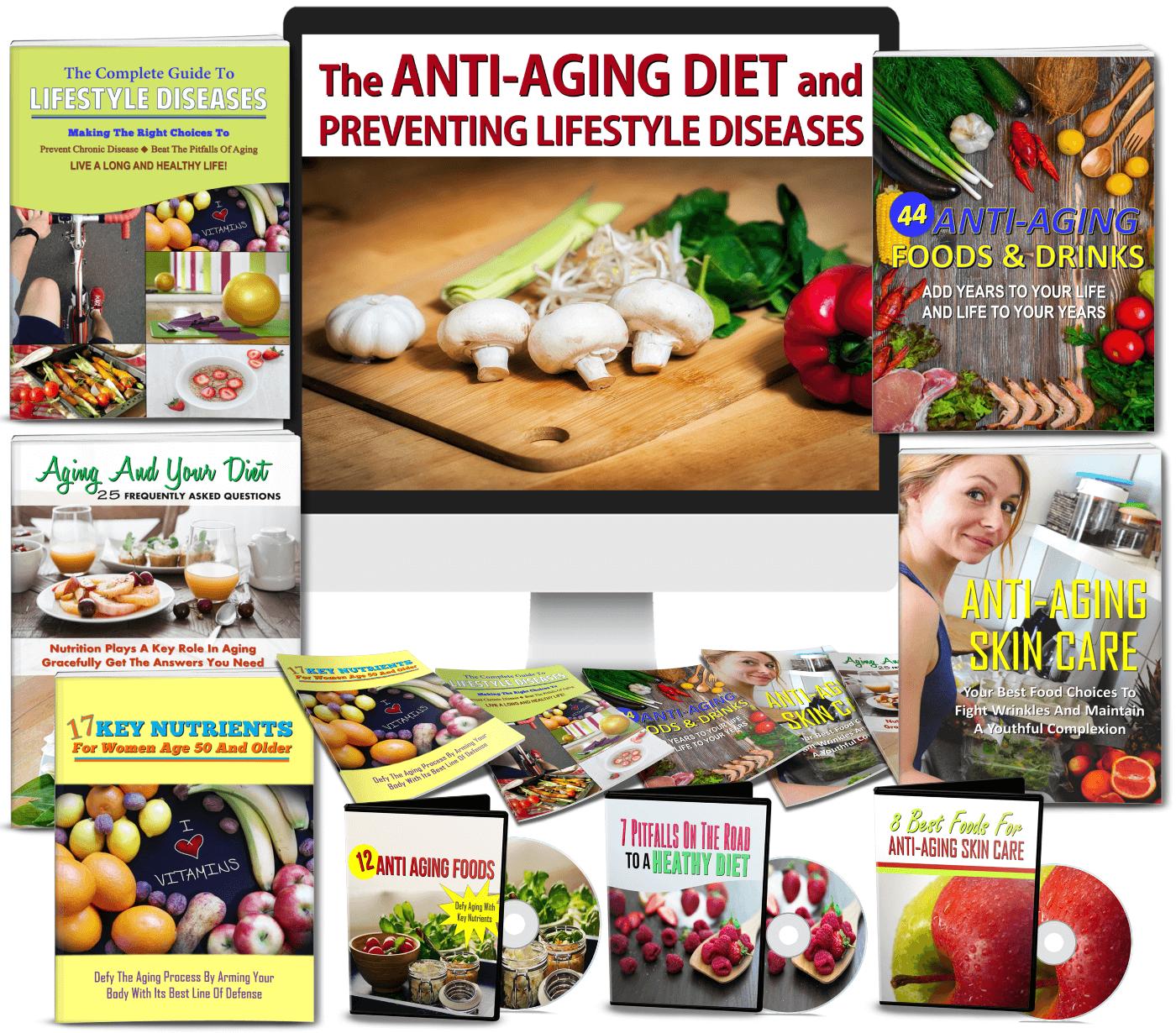Anti-Aging Diet/Lifestyle Diseases PLR Bundle