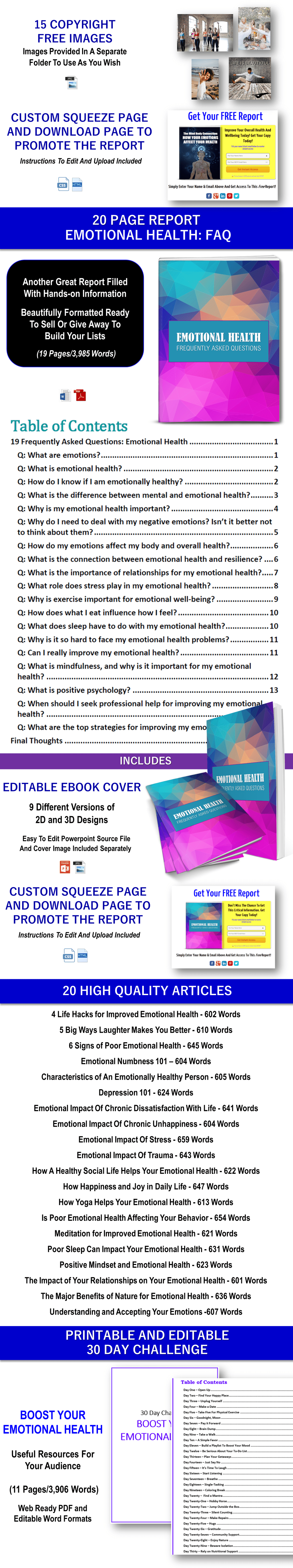 Nurturing Emotional Health Content with PLR Rights
