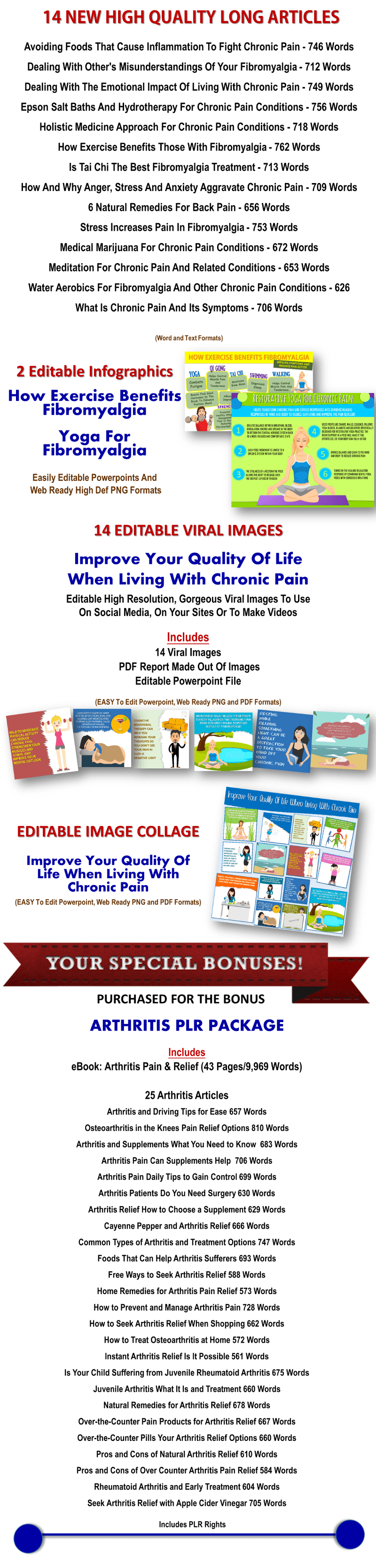 Giant Fibromyalgia/Chronic Pain PLR Pack