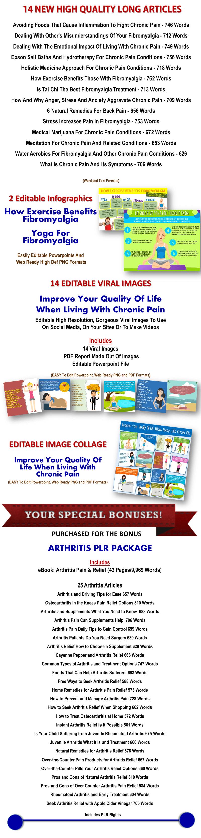 Giant Fibromyalgia/Chronic Pain PLR Pack