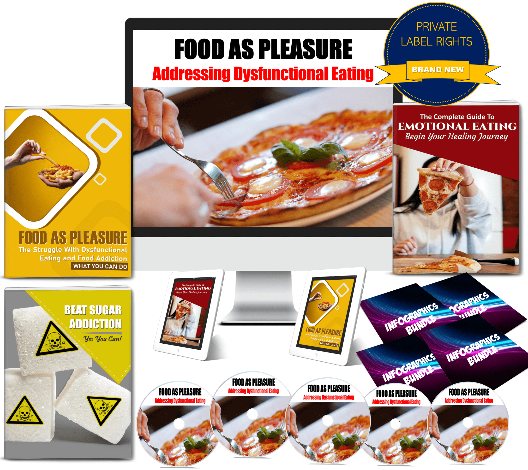 Food As Pleasure: Food Addiction and Emotional Overeating Content With PLR Rights