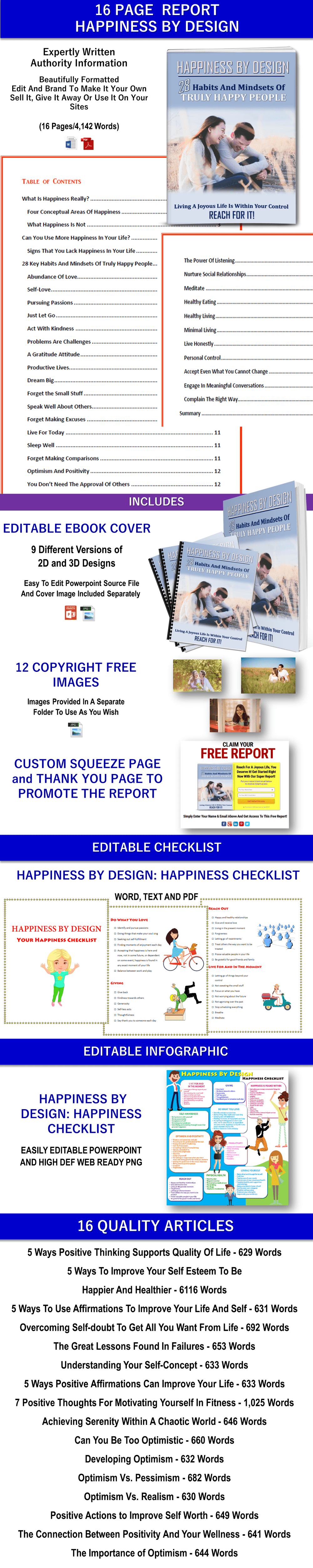 Positive Attitude and Positive Thinking Content with PLR Rights