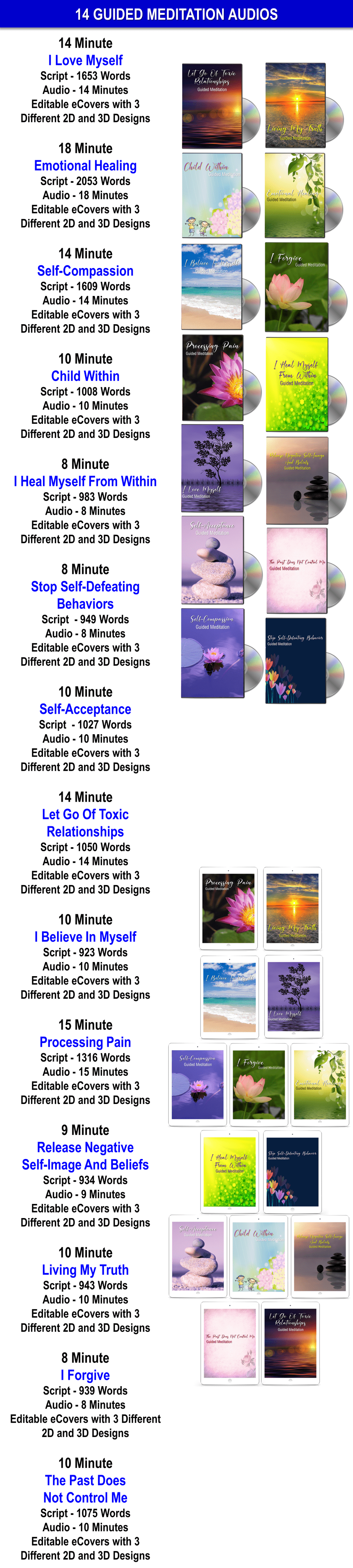 14 Guided Meditation Audios, Sales Materials + Private Label Rights