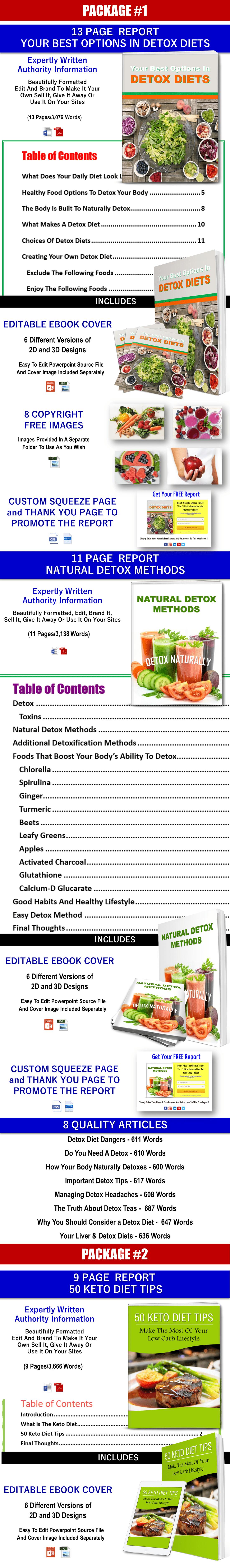 Giant Keto, Detox Diets. Metabolism And Health PLR