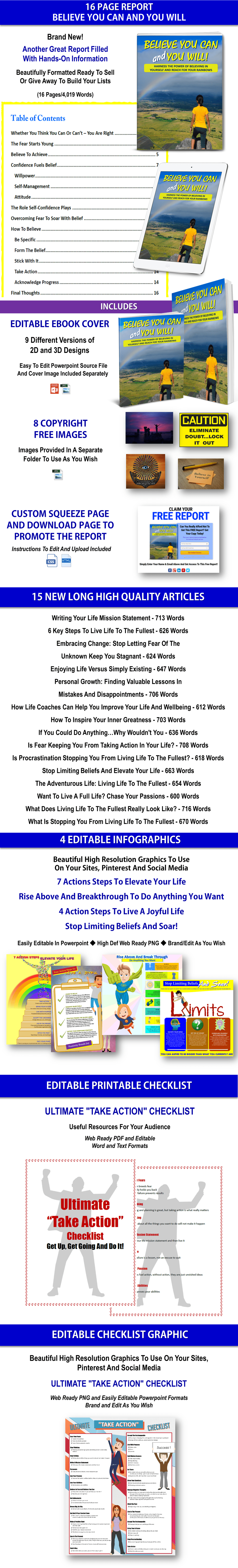 Self-help, take action in your life PLR