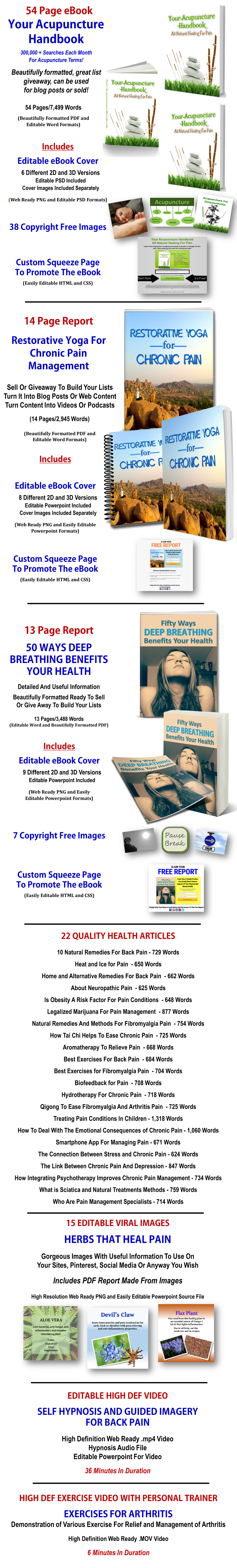 Pain Management PLR Bundle