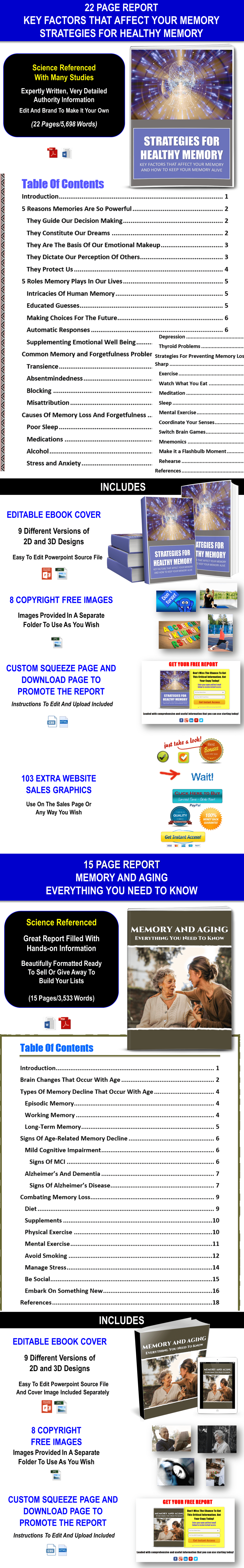 KEEP YOUR MEMORY HEALTHY Content with PLR Rights