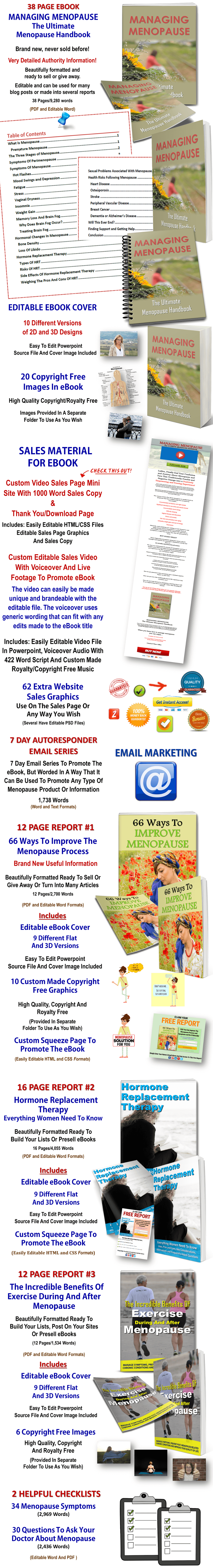 Giant Menopause PLR: eBooks, Videos, Infographics, Articles