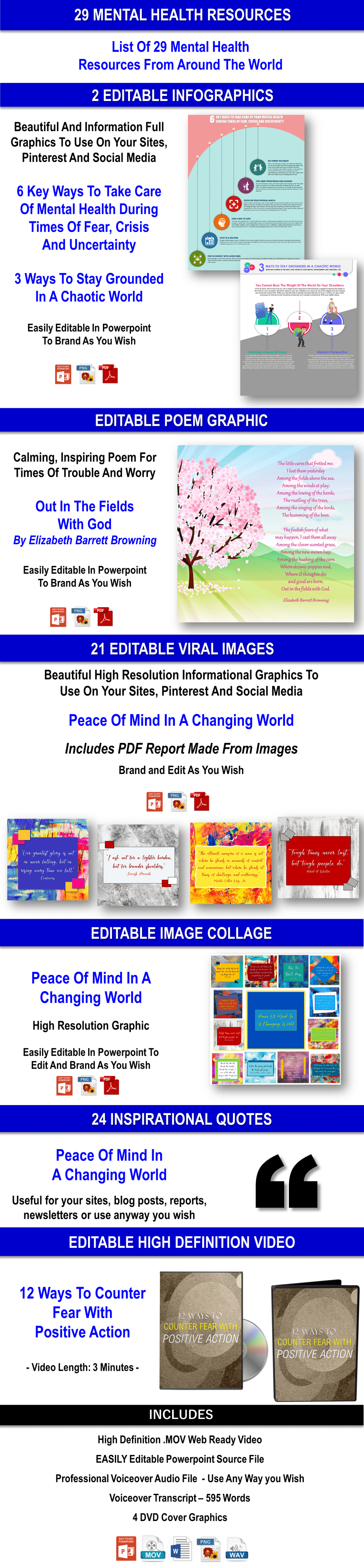 Survive A Changing World: Protect Your Mental Health In Times Of Fear, Crisis And Uncertainty Content With PLR Rights