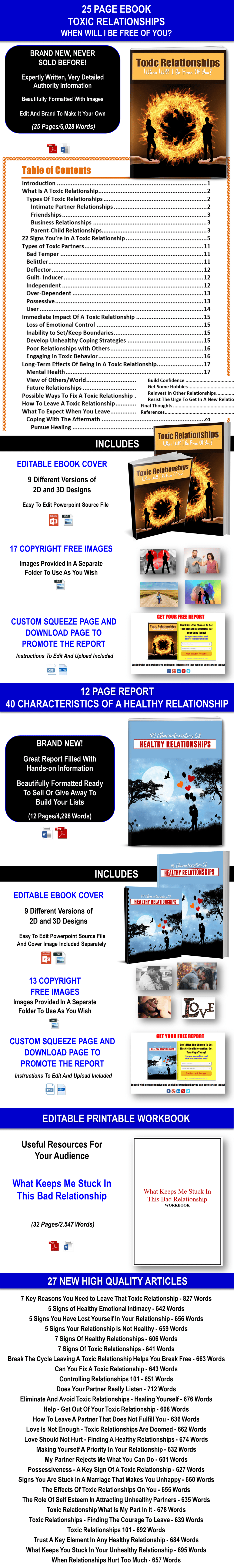Giant Toxic Relationships Content Pack with Private Label Rights