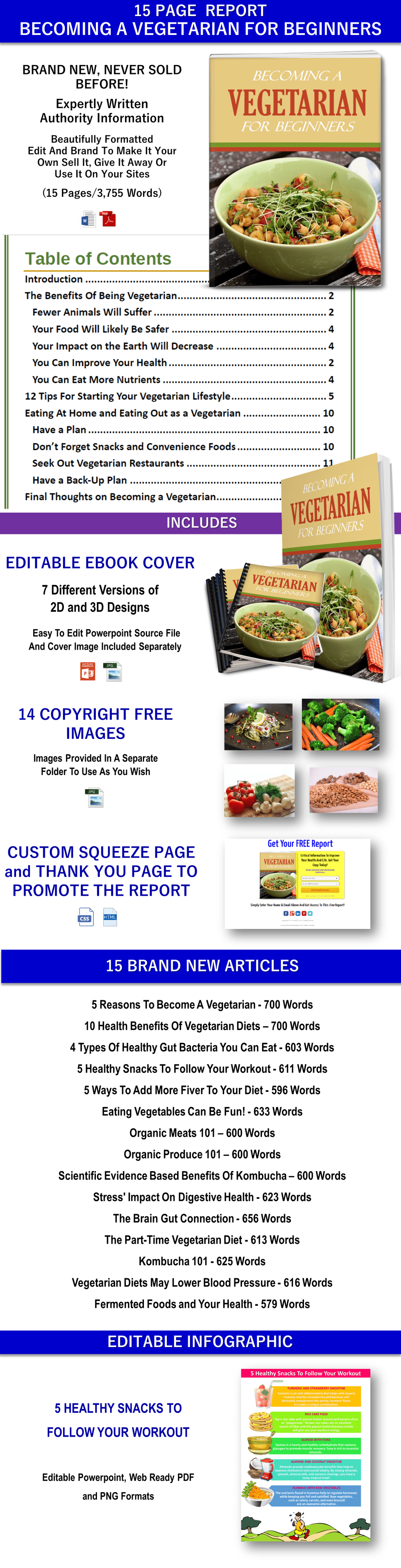 Vegetarian and Healthy Diet PLR