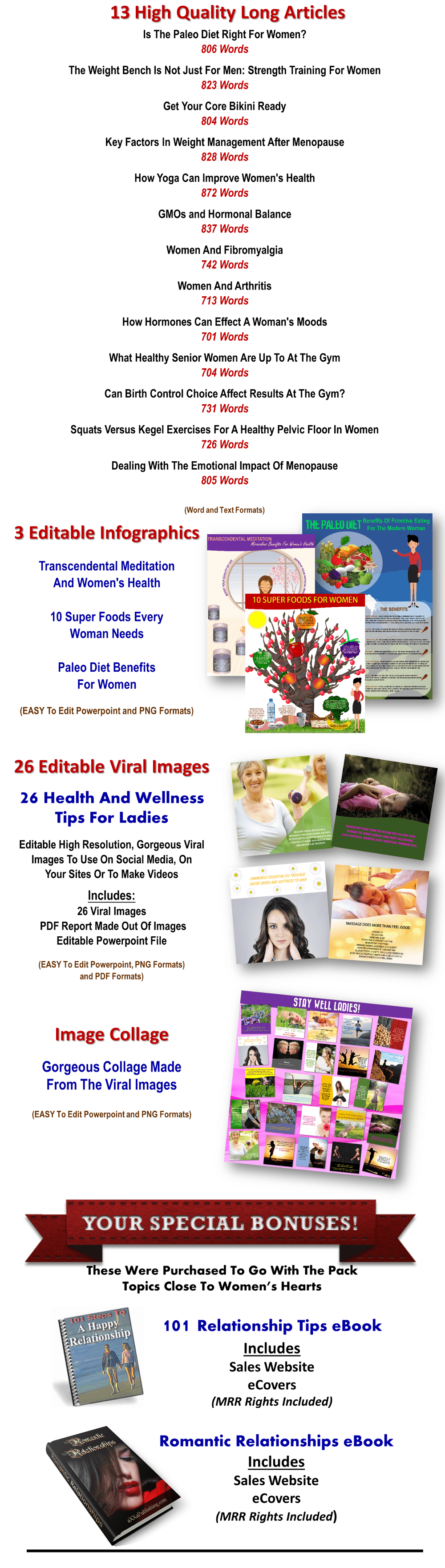Women's Health/Fitness Giant PLR