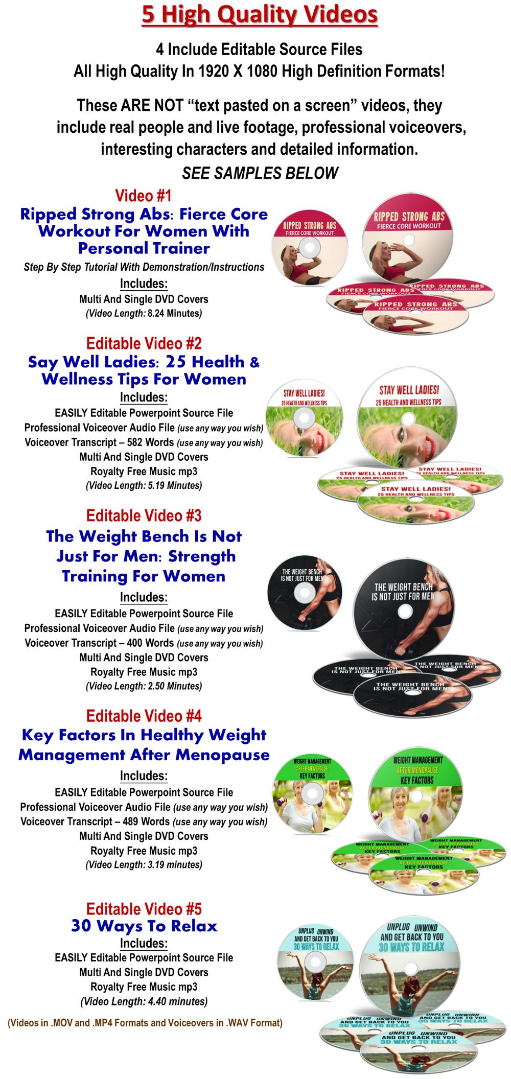 Women's Health/Fitness Giant PLR