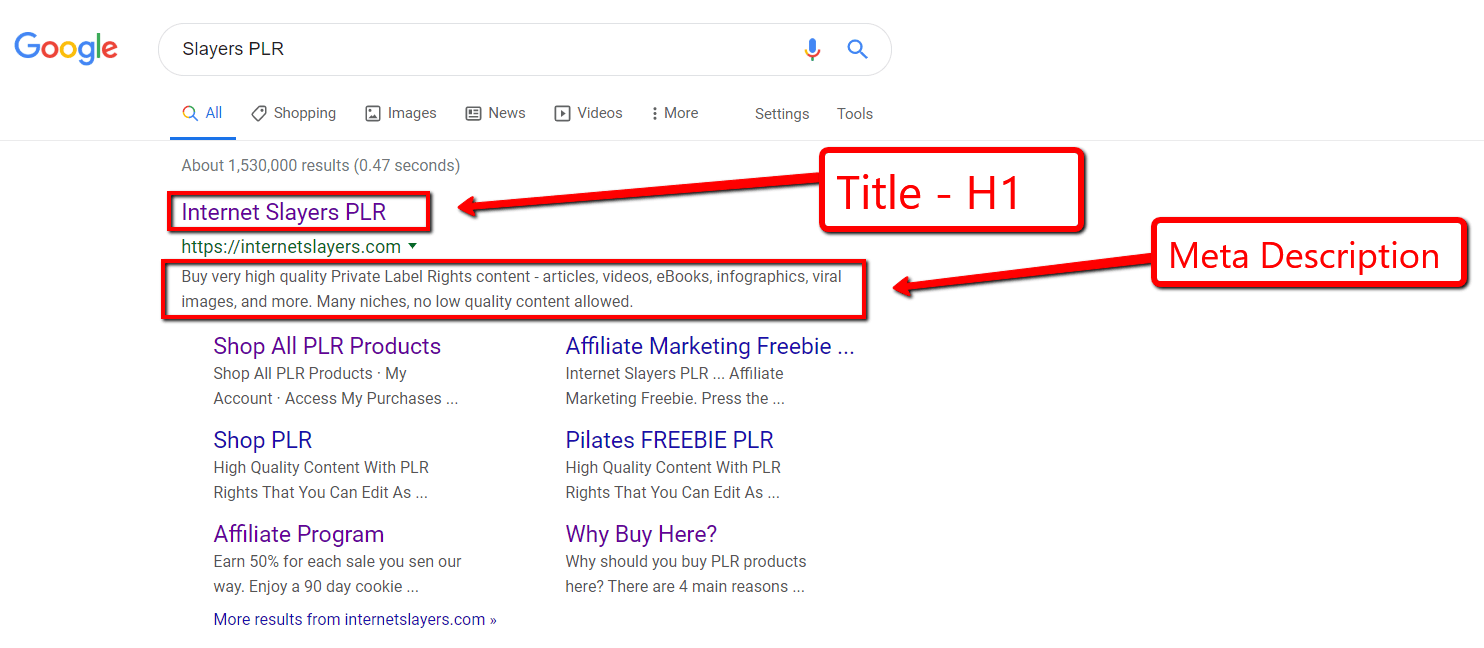 how to build a website - title tags