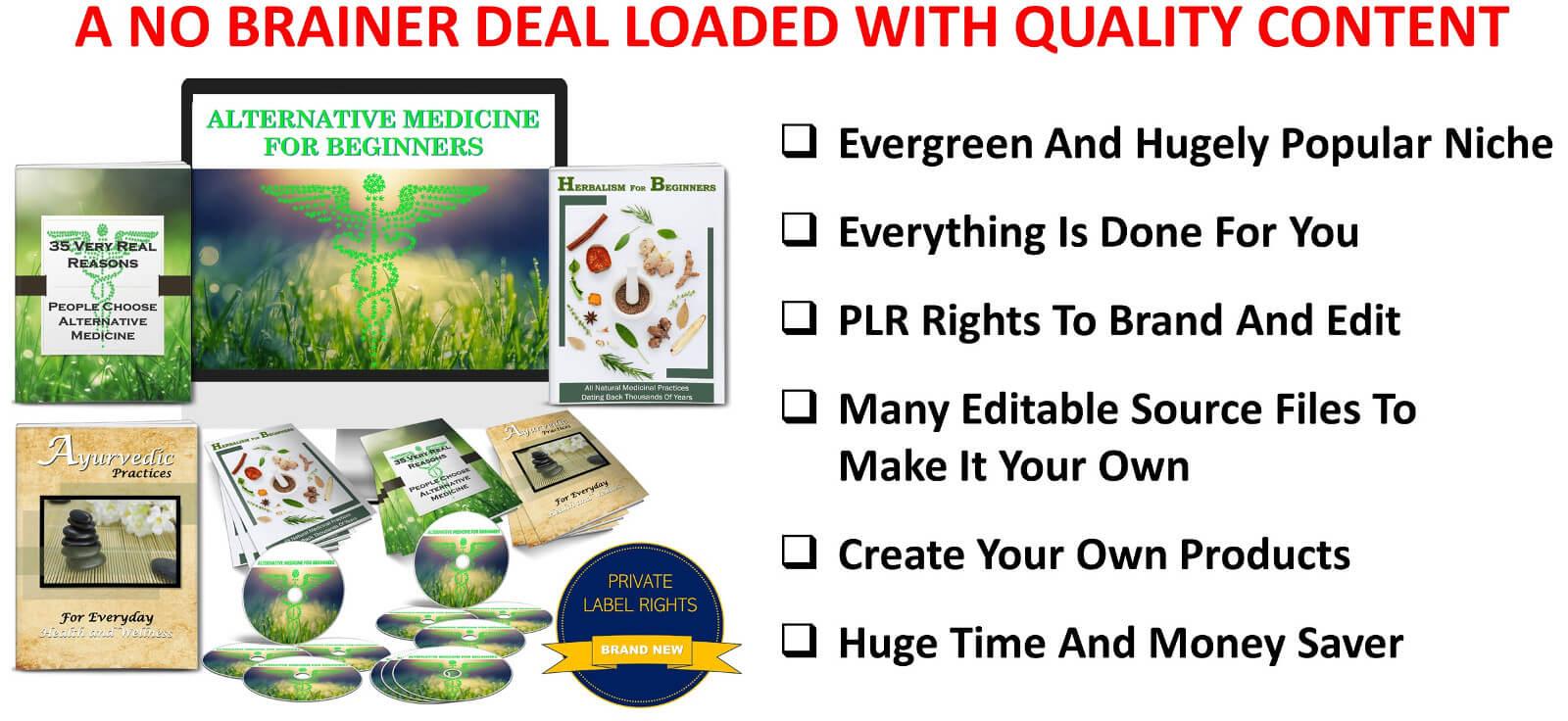 Alternative Medicine For Beginners and Herbalism PLR