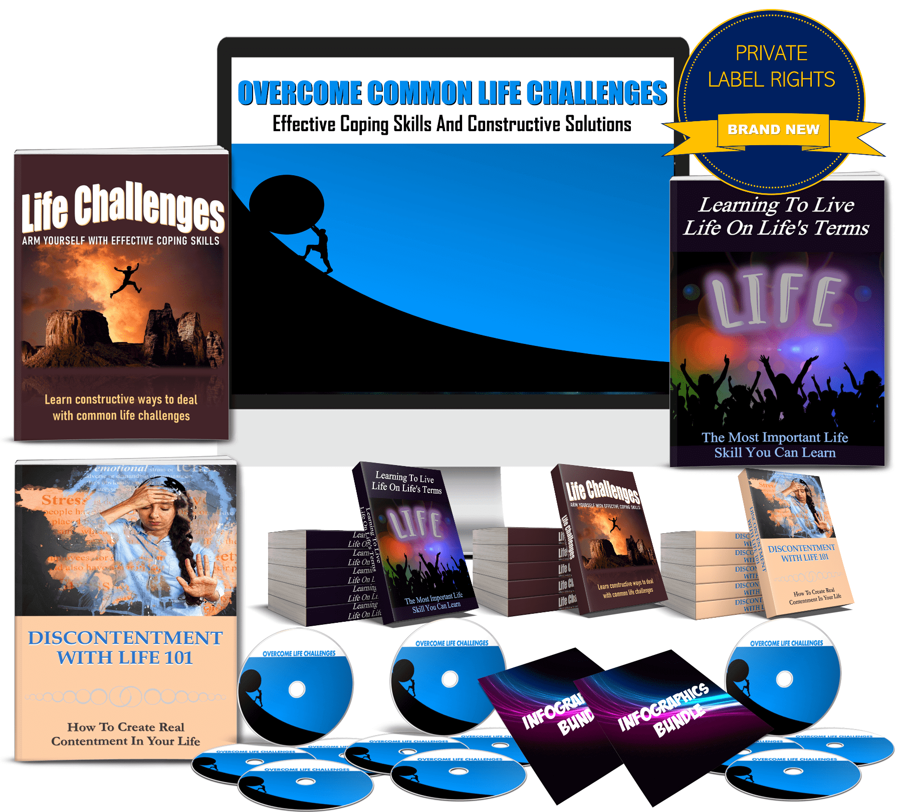 overcome common life challenges PLR
