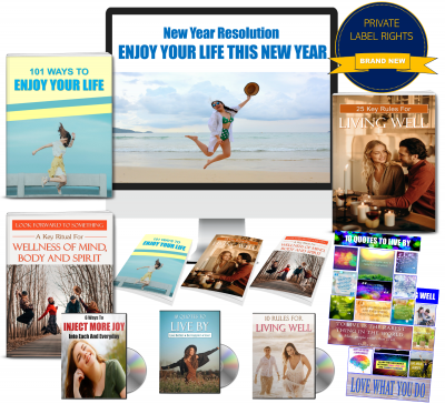 Enjoy Your Life This New Year 300+ Piece PLR Bundle