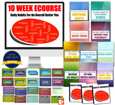 Life Habits eCourse Prvate Label Rights