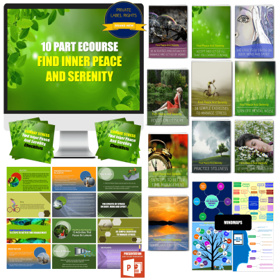 10 Part eCourse: Find Inner Peace & Serenity In A Chaotic World 300+ Piece PLR Pack
