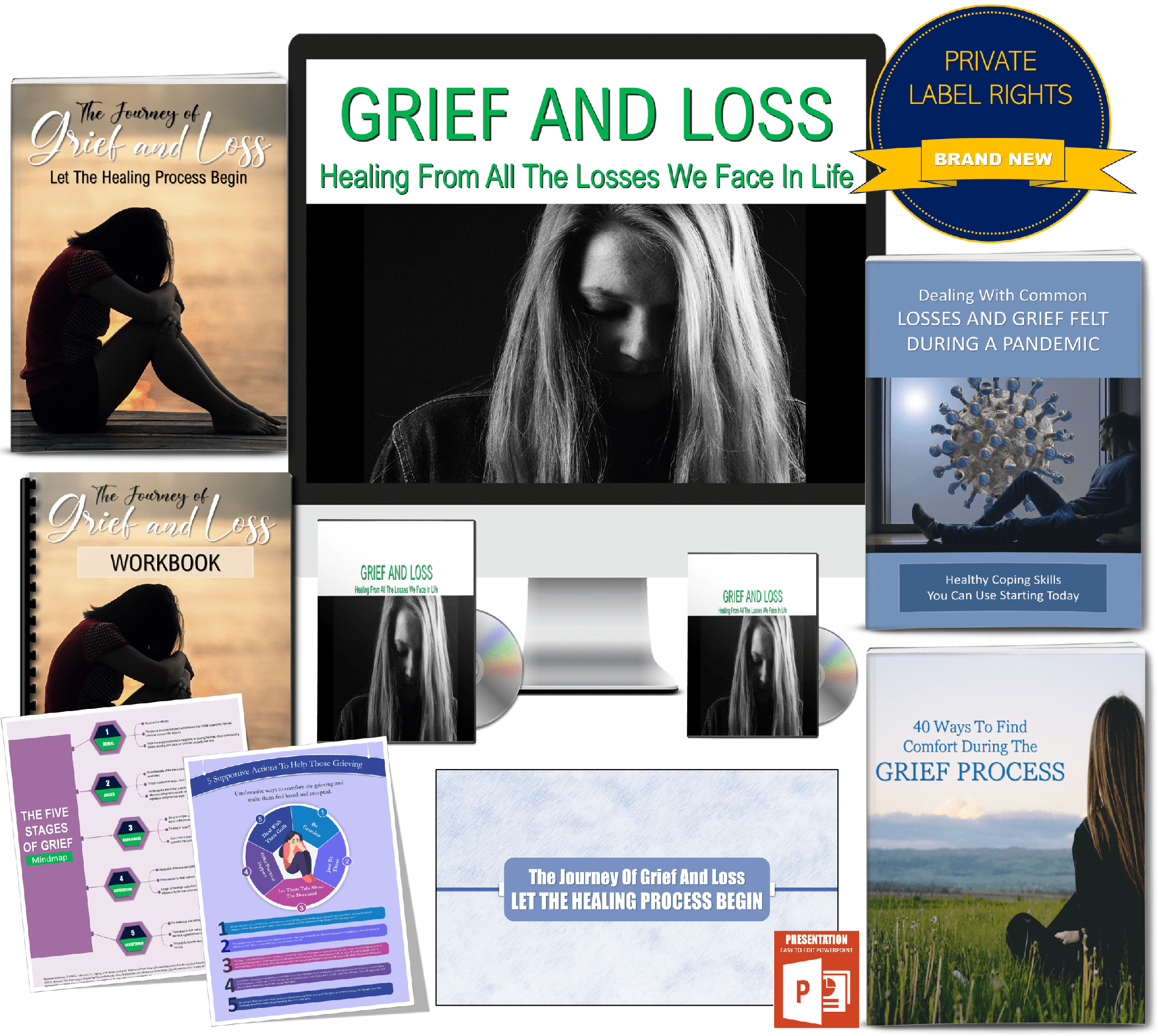 grief and loss giant content pack PLR rights
