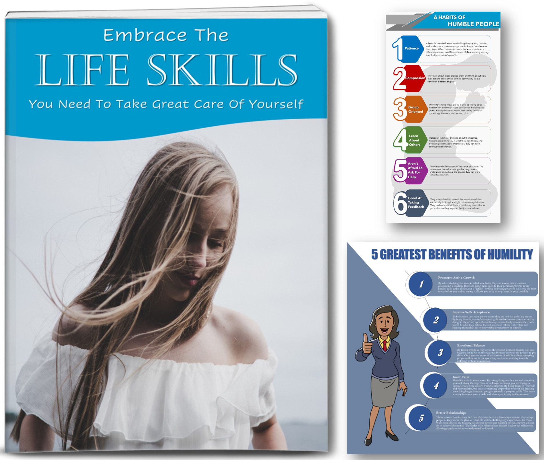 Life Skills Report, 18 Articles And 2 Editable Infographics PLR